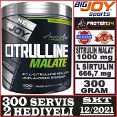 Bigjoy Citrulline Malate 300 Gram Aromasız Big...