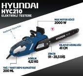 Hyundai HYC210 2000 Watt Elektrikli Ağaç Kesme Motoru-4