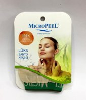 Micropeel İpek Kese Lüx Banyo Yüz Kesesi Hasas