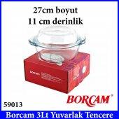 Borcam 59013 3 Lt Yuvarlak Tencere Boy 27cm Derinlik 11cm Paşabah-2