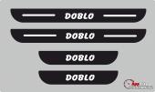 Fiat Doblo Plastik Kapı Eşiği (4lü Set)