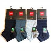 Premium Bambu Dikişsiz Patik Erkek Çorap 4 Set