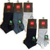 Premium Bambu Dikişsiz Patik Erkek Çorap 5 Set