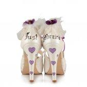 Mor Temalı Gelinlik Ayakkabı-2