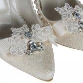 Gelin Ayakkabısı Stiletto  İncili Tasarım-5