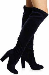 Lacivert Dizüstü Streç Çizme-6