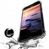 Samsung Galaxy J7 Prime 2 Kılıf Anti Shock Köşeli Şeffaf Silikon
