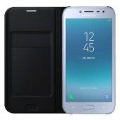 Samsung Galaxy J2 Pro 2018 Kılıf Flip Cover Kapaklı +kırılmaz Cam
