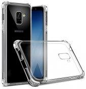 Samsung Galaxy A8 2018 Kılıf Anti Shock Köşeli Silikon + Cam-2