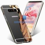 Samsung Galaxy Note 8 Kılıf Metal Aynalı Kılıf-2