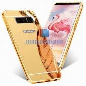 Samsung Galaxy Note 8 Kılıf Metal Aynalı Kılıf-3