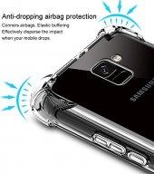 Samsung Galaxy A8 2018 Kılıf Anti Shock Köşeli Silikon + Cam-5