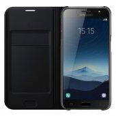 Samsung Galaxy J7 Prime 2 Pro Max Flip Cover Kapaklı Kılıf + Cam-6