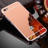Xiaomi Mi 5 Prime Kılıf Metal Aynalı Kılıf + Mi5 Prime Kırılmaz-6