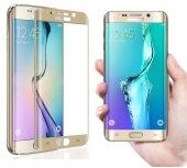 Galaxy S6 Edge Kırılmaz S6 Edge Plus Tam Ekran Cam Oval Kavisli-3