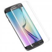 Galaxy S6 Edge Kırılmaz S6 Edge Plus Tam Ekran Cam Oval Kavisli-6