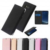 Samsung Galaxy S8 S8 Plus S7 S6 Edge Flip Cover Kapaklı Kılıf