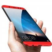 Huawei Mate 10 Lite Pro Kılıf 360 Tam Koruma Plastik + Nano Cam