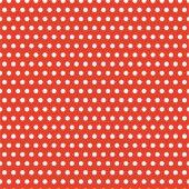 Kırmızı Zemin Üzerine Küçük Beyaz Puanlı Keçe Plaka (Dk P9)