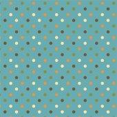 Mavi Zemin Üzerine Karışık Renkli Puanlı Keçe Plaka (Dk P11)