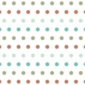 Beyaz Zemin Üzerine Kahverengi Turkuaz Puanlı Keçe Plaka (Dk P23)