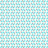 Beyaz Zemin Üzerine Mavi Biberon Desenli Keçe Plaka (Dk P45)