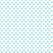 Beyaz Zemin Üzerine Mavi Yıldız Desenli Keçe Plaka (Dk P59)