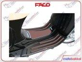 Vespa Lx Lxv S 125 150 Faco Şerit Paspas Seti Kahverengi