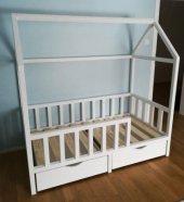 Montessori Yatak, Beyaz Boyalı, 1. Sınıf Çam Karyola