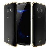 Baseus Glitter Gold Samsung Galaxy S8 Kılıf Arka Koruyucu Kapak