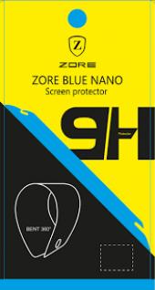 Alcatel A3 XL Ekran Koruyucu Blue Nano Temperli Kırılmaz Cam-3