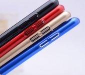 General Mobile GM6 Kılıf Cherry Kapak Gold + Kırılmaz Cam Ekran K-2