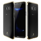 Baseus Glitter Gold Samsung Galaxy S8 Plus Kılıf Arka Koruyucu Ka