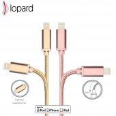 Lopard Apple iPhone 7 Plus 3 Metre Şarj Kablosu Data Kablo Veri T-3