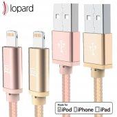 Lopard Apple iPhone 7 Plus 3 Metre Şarj Kablosu Data Kablo Veri T-4
