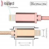 Lopard Apple iPhone 7 Plus 3 Metre Şarj Kablosu Data Kablo Veri T-5