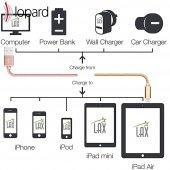 Lopard Apple iPhone 7 Plus 3 Metre Şarj Kablosu Data Kablo Veri T-6