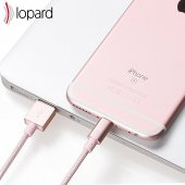 Lopard Apple iPhone 7 Plus 3 Metre Şarj Kablosu Data Kablo Veri T-7