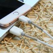 iPhone 5 6 6S 7 Plus Kırılmayan Yaylı Şarj Kablosu Baseus Spring-2