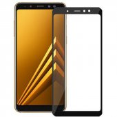 Samsung Galaxy A8 Plus 2018 Kırılmaz Cam Siyah Temperli Ekran Kor