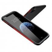 Baseus iPhone X Kılıf Bumper TPU Soft Kapak Kap + Temperli Cam Ek-2