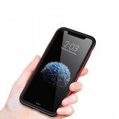 Baseus iPhone X Kılıf Bumper TPU Soft Kapak Kap + Temperli Cam Ek-4