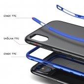 Baseus iPhone X Kılıf Bumper TPU Soft Kapak Kap + Temperli Cam Ek-6