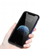 Baseus iPhone X Kılıf Bumper TPU Soft Kapak Kap + Temperli Cam Ek-8