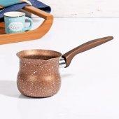 Taç Granit Plus 4 No Cezve Sütlük Bronz