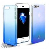 Baseus Glaze Mavi iPhone 7 Plus - iPhone 8 Plus Kılıf Arka Koruyu