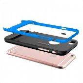 Apple iPhone 6 6S Plus Mavi Stand Kılıf Arka Koruyucu Kapak-2