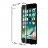 Apple iPhone 7 Şeffaf İnce Silikon Kılıf Arka Koruyucu Kapak