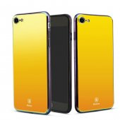 Baseus Glass Aynalı Gold İphone 7 8 Kılıf Arka Koruyucu Kapak