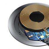 Baseus Metal iPhone Wireless Hızlı Siyah Şarj Cihazı 7.5w-3